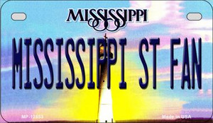 Mississippi State Fan Wholesale Novelty Metal Motorcycle Plate MP-12853