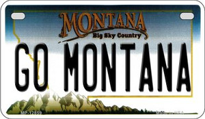 Go Montana Wholesale Novelty Metal Motorcycle Plate MP-12859