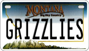 Grizzlies Wholesale Novelty Metal Motorcycle Plate MP-12861