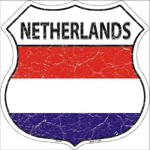 Netherlands Country Flag Highway Shield Wholesale Metal Sign