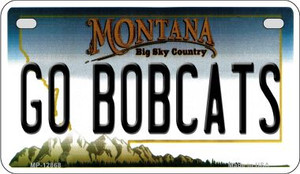 Go Bobcats Wholesale Novelty Metal Motorcycle Plate MP-12868