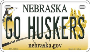 Go Huskers Wholesale Novelty Metal Motorcycle Plate MP-12872