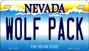 Wolf Pack Wholesale Novelty Metal Motorcycle Plate MP-12876