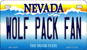 Wolf Pack Fan Wholesale Novelty Metal Motorcycle Plate MP-12878