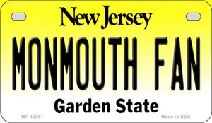 Monmouth Fan Wholesale Novelty Metal Motorcycle Plate MP-12881