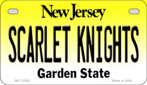 Scarlet Knights Wholesale Novelty Metal Motorcycle Plate MP-12892