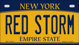 Red Storm Wholesale Novelty Metal Motorcycle Plate MP-12915