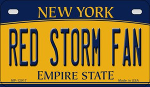Red Storm Fan Wholesale Novelty Metal Motorcycle Plate MP-12917