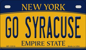 Go Syracuse Wholesale Novelty Metal Motorcycle Plate MP-12918