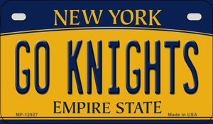 Go Black Knights Wholesale Novelty Metal Motorcycle Plate MP-12927