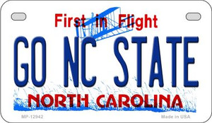 Go North Carolina State Wholesale Novelty Metal Motorcycle Plate MP-12942