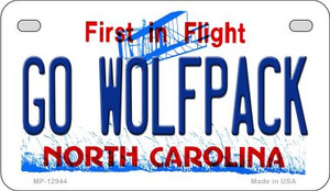 Go Wolfpack Wholesale Novelty Metal Motorcycle Plate MP-12944