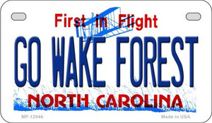 Go Wake Forest Wholesale Novelty Metal Motorcycle Plate MP-12946