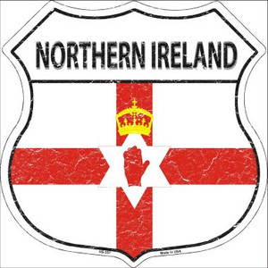 Northern Ireland Country Flag Highway Shield Wholesale Metal Sign