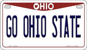Go Ohio State Wholesale Novelty Metal Motorcycle Plate MP-12964