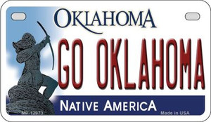 Go Oklahoma Wholesale Novelty Metal Motorcycle Plate MP-12973