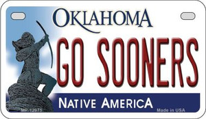 Go Sooners Wholesale Novelty Metal Motorcycle Plate MP-12975