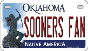 Sooners Fan Wholesale Novelty Metal Motorcycle Plate MP-12976