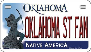 Oklahoma State Fan Wholesale Novelty Metal Motorcycle Plate MP-12978
