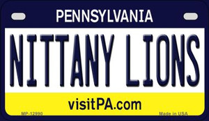 Nittany Lions Wholesale Novelty Metal Motorcycle Plate MP-12990