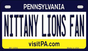 Nittany Lions Fan Wholesale Novelty Metal Motorcycle Plate MP-12992
