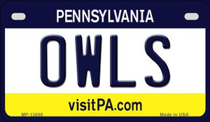Owls Wholesale Novelty Metal Motorcycle Plate MP-13000