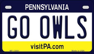 Go Owls Wholesale Novelty Metal Motorcycle Plate MP-13001
