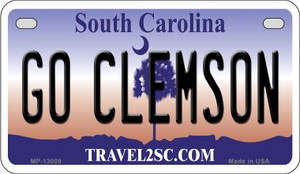 Go Clemson Wholesale Novelty Metal Motorcycle Plate