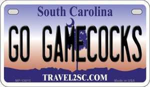 Go Gamecocks  Wholesale Novelty Metal Motorcycle Plate MP-13015