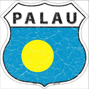 Palau Country Flag Highway Shield Wholesale Metal Sign
