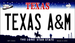 Texas A&M Wholesale Novelty Metal Motorcycle Plate MP-13043