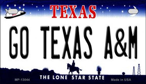 Go Texas A&M Wholesale Novelty Metal Motorcycle Plate MP-13044