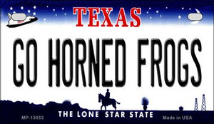 Go Horned Frogs Wholesale Novelty Metal Motorcycle Plate MP-13053