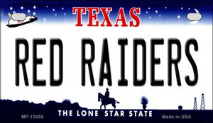Red Raiders Wholesale Novelty Metal Motorcycle Plate MP-13058