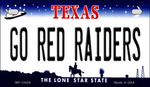Go Red Raiders Wholesale Novelty Metal Motorcycle Plate MP-13059