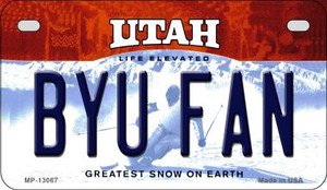 BYU Fan Wholesale Novelty Metal Motorcycle Plate MP-13067