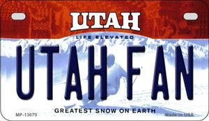 Utah Fan Wholesale Novelty Metal Motorcycle Plate MP-13070