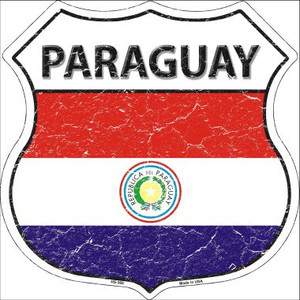Paraguay Country Flag Highway Shield Wholesale Metal Sign