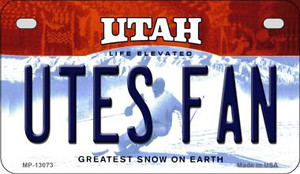 Utes Fan Wholesale Novelty Metal Motorcycle Plate MP-13073