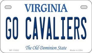 Go Cavaliers Wholesale Novelty Metal Motorcycle Plate MP-13082