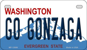 Go Gonzaga Wholesale Novelty Metal Motorcycle Plate MP-13088