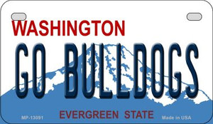 Go Bulldogs Wholesale Novelty Metal Motorcycle Plate MP-13091