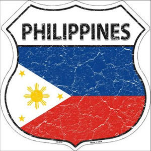 Philippines Country Flag Highway Shield Wholesale Metal Sign