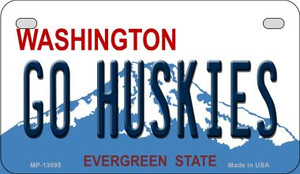 Go Huskies Wholesale Novelty Metal Motorcycle Plate MP-13095