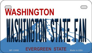Washington State Fan Wholesale Novelty Metal Motorcycle Plate MP-13099