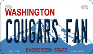 Cougars Fan Wholesale Novelty Metal Motorcycle Plate MP-13101
