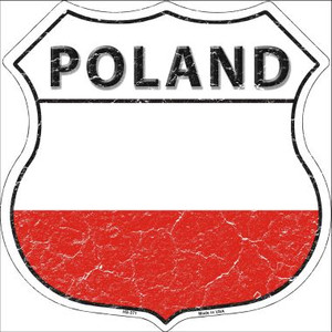 Poland Country Flag Highway Shield Wholesale Metal Sign