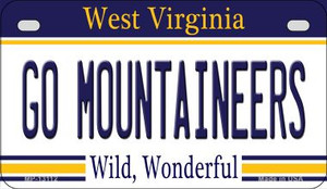 Go Mountaineers Wholesale Novelty Metal Motorcycle Plate MP-13112