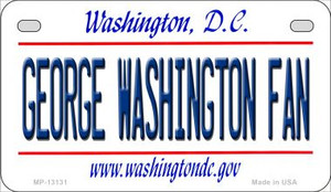 George Washington Fan Wholesale Novelty Metal Motorcycle Plate MP-13131