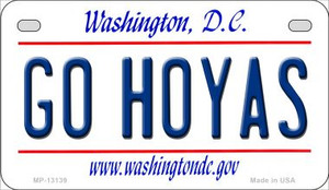Go Hoyas Wholesale Novelty Metal Motorcycle Plate MP-13139